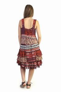 Robe Boheme Courte : robe courte boh me en voile de coton rouge ~ Melissatoandfro.com Idées de Décoration