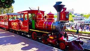 4k  Disneyland Railroad Train