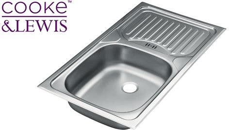 cooke and lewis kitchen sinks cooke lewis stainless steel kitchen sinks drainer waste 8328
