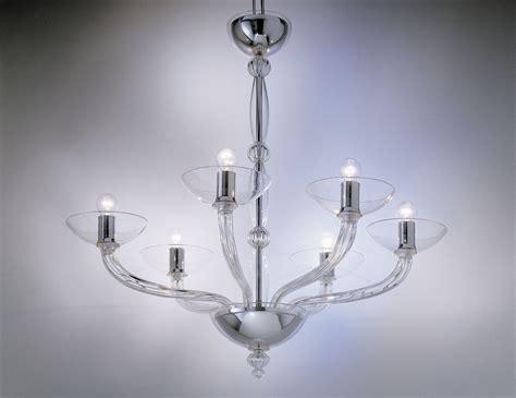 clear glass chandelier nella vetrina eclettici ninfea 9002 06 murano chandelier