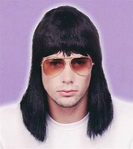 Mens Adult 70s 80s Wigs MULLET SHAG ROCKER AFRO Disco ...