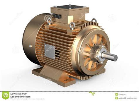 Industrial Electric Motors by Bronze Industrial Electric Motor Stock Illustration
