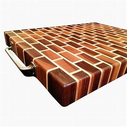 Cutting Board Grain End Walnut Maple Custom