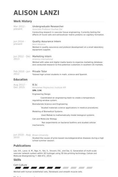 Undergraduate Resume Objective by Exle Resume Objective Undergraduate 10 College