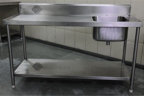 stainless steel work table with sink mmequipments kitchen equipments exporter imported kitchen