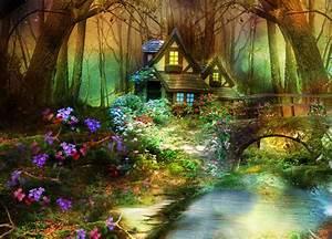 3d, Nature, Phantasmagoria, Fantasy, Flowers, Forest