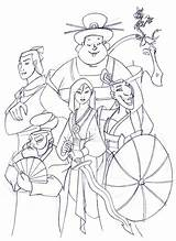 Mulan Disney Coloring Pages Drawing Team Deviantart Princess Fan Draw Characters Drawings Colouring Adult Colors Cartoon Blank Books Sheets Adults sketch template