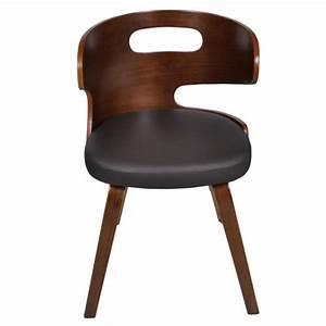 lot de 4 chaises de salle a manger en cuir melange brun With salle À manger contemporaineavec chaise en cuir