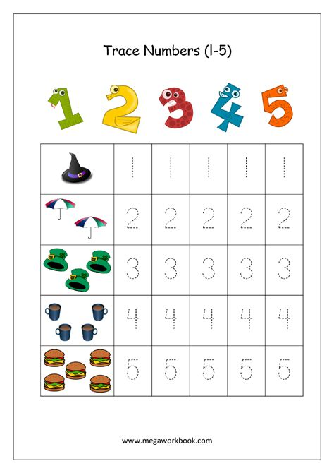 free math worksheets number tracing and writing 1 10