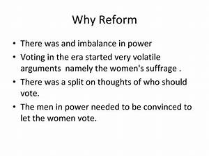 Voters Reform In The Progressive Era