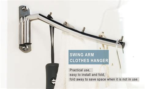 amazoncom newdora folding wall mounted clothes hanger rack clothes hook stainless steel