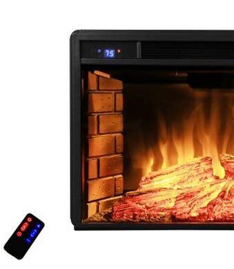 akdy   black electric firebox fireplace heater