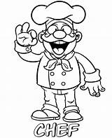 Chef Coloring Pages Professions Printable Master Sheets Cooking Funny Topcoloringpages Cute sketch template