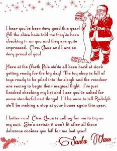 Letter from santa christmas printable free christmas for Christmas letter from santa