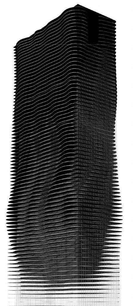 parametric facade aqua tower iaac blog