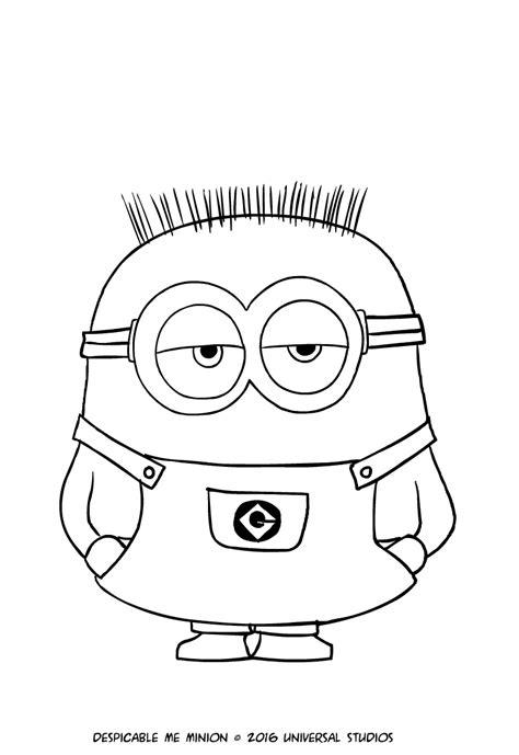 disegni da colorare minions pdf disegno minion jerry