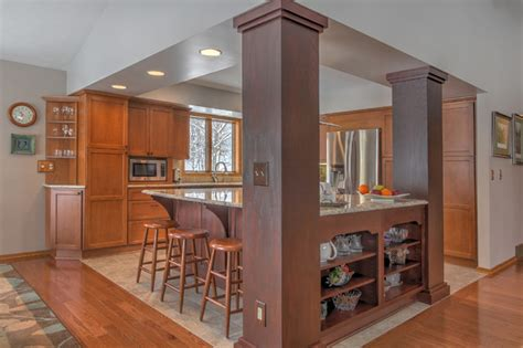 open concept kitchen traditional kitchen grand rapids  thompson remodeling