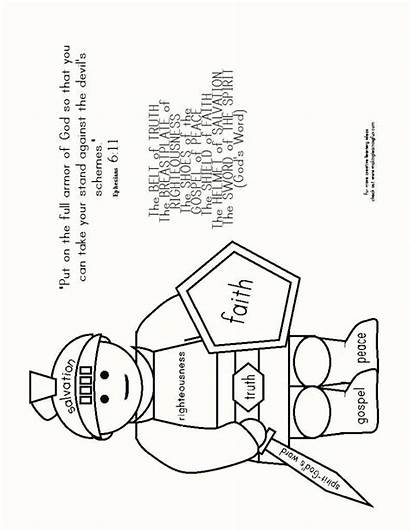 Coloring Pages God Armor Lds 119 Psalm