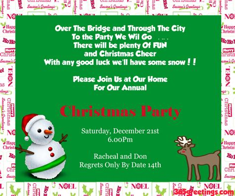 christmas invite ryhmes invitation ideas celebration all about