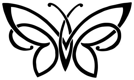awesome tribal butterfly tattoo  tribal