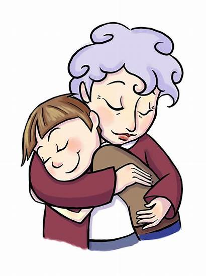 Clipart Grandma Grandmother Digital Child Coloring Pages