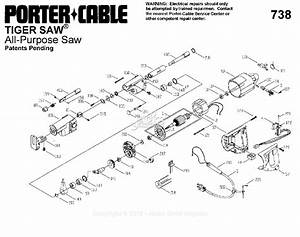 Porter Cable 738 Type 1 Parts Diagram For Assembly