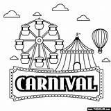 Carnival Coloring Games sketch template