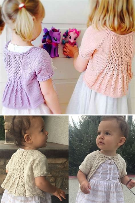Baby and Child Shrugs and Boleros Knitting Patterns - In ...