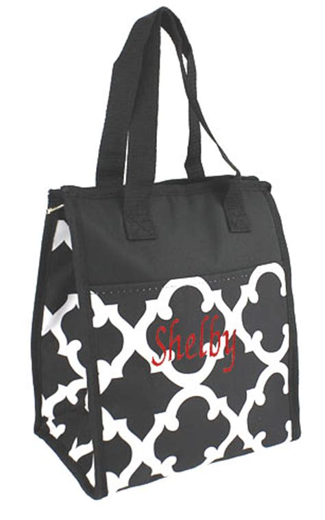 womens lunch bag insulated monogram  colors