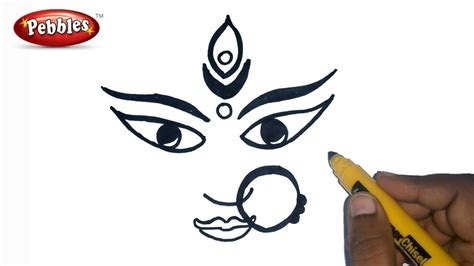 Durga Puja Drawing For Kids