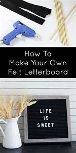 18 besten diy letterboard bilder auf pinterest With make your own felt letter board