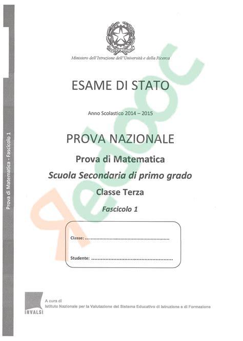 Test Prove Invalsi 2015 - soluzioni test invalsi 2015 matematica terza media