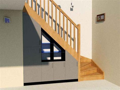 meuble caisson cuisine aménagement sous escalier quart tournant partie 2