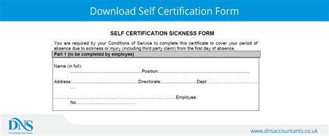 nhs  certification form dns accountants