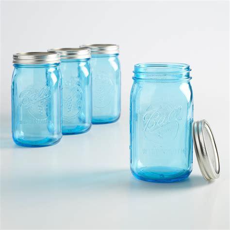 blue jars ball elite blue quart mason jars 4 pack world market