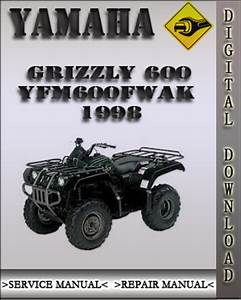 1998 Yamaha Grizzly 600 Yfm600fwak Factory Service Repair