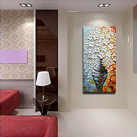 asdam art  oil paintings  canvas elegant white vase