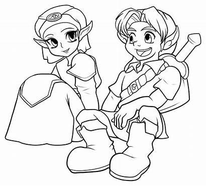Zelda Coloring Link Coloriage Ausmalbilder Dessin Enfants
