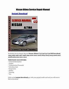 1996 Nissan Altima Owners Manual Free Download