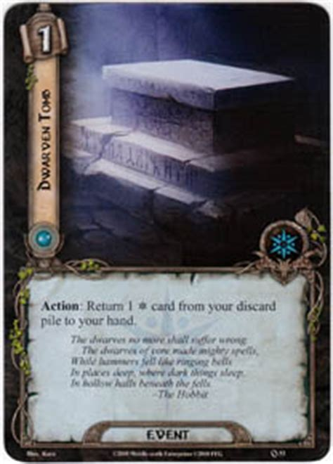 lotr lcg deck lists dwarven set lord of the rings lcg lord of