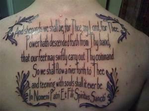 Boondock Saints Prayer Tattoo