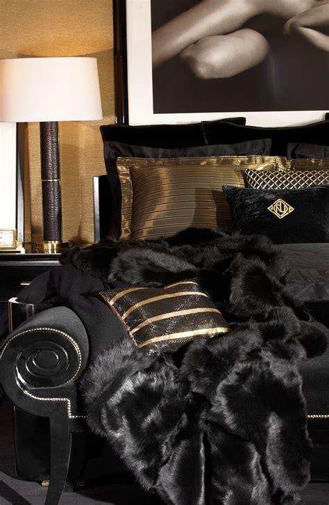 black  gold bedding