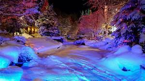 Desktop Wallpaper Snowy Night Scenes (55+ images)