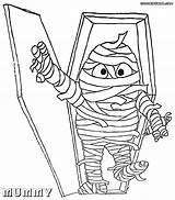 Mummy Sarcophagus Coloring Pages Drawing Getdrawings sketch template