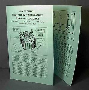 Lionel Kw 195 Big Transformer Instruction Manual Cheep