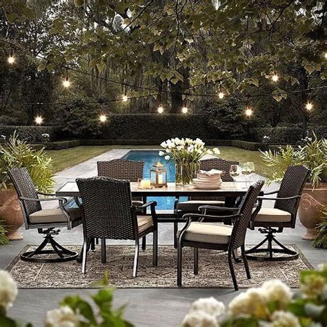 Wicker Patio Set Clearance by Wicker Patio Furniture Set 7 All Weather Dining