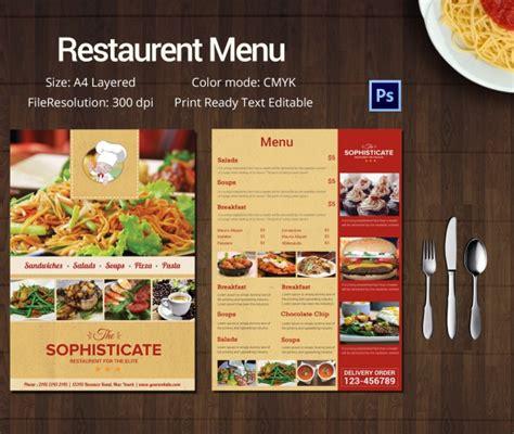 Restaurant Menu Template Free by Restaurant Menu Template 45 Free Psd Ai Vector Eps