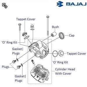 Bajaj Pulsar 220f Dtsi  Cylinder Head Cover