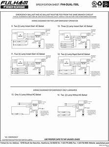 Emergency Light Ballast Wiring Diagram