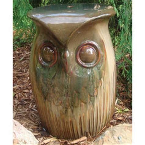 ceramic owl garden stool findgift